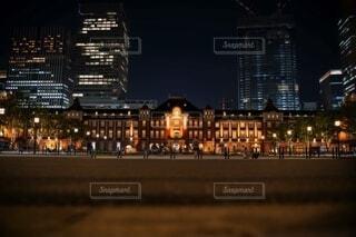 夜,夜景,東京,駅,東京駅