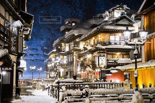 空,建物,雪,屋外,家,明るい