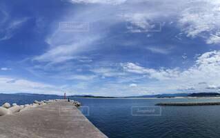 自然,風景,海,空,屋外,湖,ビーチ,雲,船,水面