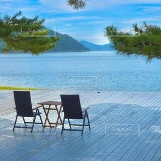 ビーチの椅子の写真・画像素材[4947460]