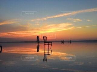 トルコの塩湖の写真・画像素材[4947664]