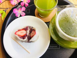 カフェ,桜,お菓子,和室,お茶,畳,緑茶,日本茶,和カフェ