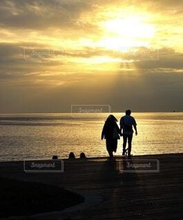 sunset beachの写真・画像素材[4955403]