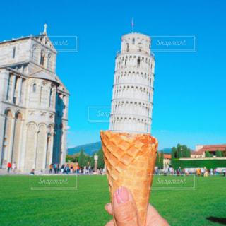 ピサの斜塔をアイスクリームにしてみた! - No.810565