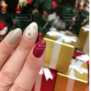 クリスマスネイルアートの写真・画像素材[913224]