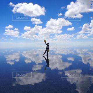 ウユニ塩湖の写真・画像素材[924645]
