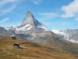 空,絶景,青空,青,山,景色,旅行,マッターホルン,スイス,海外旅行