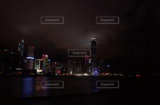 風景,建物,夜,夜景,中国,香港,100万ドルの夜景