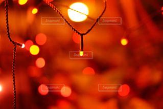 近くに赤い光のアップの写真・画像素材[914694]
