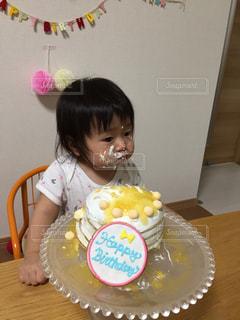 ケーキ,子供,女の子,手作り,誕生日ケーキ,一歳