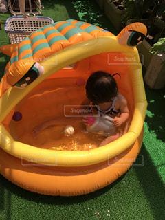 子供,女の子,水遊び,夏バテ,熱中症対策