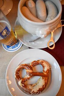 パン,ハート,ビール,ドイツ,ミュンヘン,ロマンティック,焼きたて,伝統,飲み,白ソーセージ,伝統料理,プレッツェル,アウグスティーナ