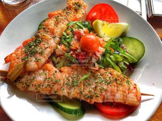 ヨーロッパ,港,サラダ,ドイツ,ハンブルグ,Ocean Fisch und Steakrestraurant