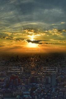 空,東京,綺麗,夕焼け,新宿,新宿都庁
