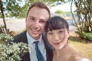 女性,自撮り,カップル,屋外,人物,笑顔,結婚,幸せ,ドイツ,新郎,彼女,彼,国際カップル,国際結婚