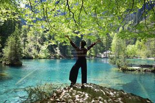 自然,ヨーロッパ,樹木,人物,リラックス,スイス,ハイキング,海外旅行,インターラーケン
