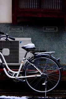冬,自転車,雪,京都,サイクリング,町屋