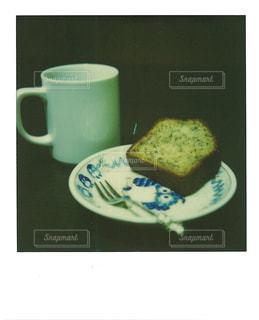 ケーキ,コーヒー,珈琲,うちカフェ,ポラロイド,バナナケーキ