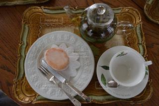 ケーキ,ティーカップ,喫茶店,レモンケーキ,お茶会,ティーポット