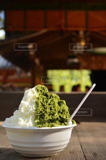 夏,神社,抹茶,お祭り,ミルク,かき氷,カキ氷