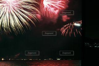 夜景,湖,カラフル,花火