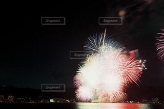 夜景,湖,カラフル,花火,リフレクション,フィルム