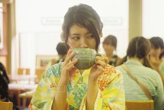 抹茶,女の子,浴衣,おいしい,ポートレート,喫茶店,上品,和喫茶