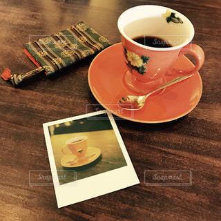 コーヒー,朝食,ランチ,テーブル,カップ,ドリンク,ポラロイド,小川珈琲