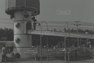 鋼のトラックの列車の写真・画像素材[819641]