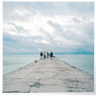 自然,空,屋外,雲,青,砂浜,水面,沖縄,旅行,フィルム,竹富島,日中