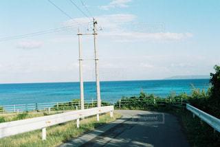 海,空,屋外,道路,水面,海岸,沖縄,草,旅行,フィルム,波照間島,眺め