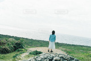 自然,海,空,屋外,沖縄,草,丘,岩,旅行,高原,フィルム,波照間島,最南端,山腹