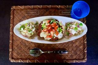 食べ物,食事,ランチ,沖縄,テーブル,皿,旅行,料理,タコライス,波照間島