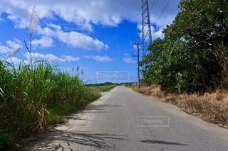 空,屋外,雲,青,道路,沖縄,景色,草,樹木,道,旅行,畑,波照間島,日中