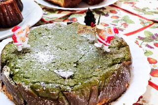 食べ物,冬,ケーキ,デザート,皿,クリスマス,料理,手作り,作品,抹茶チーズケーキ