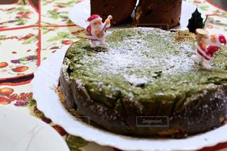 食べ物,冬,ケーキ,デザート,皿,クリスマス,手作り,抹茶チーズケーキ