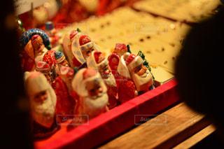 冬,夜,屋外,光,クリスマス,置物,サンタ,ドイツ,マーケット
