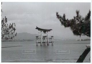 水の体の横に立っている人のグループ - No.1022524