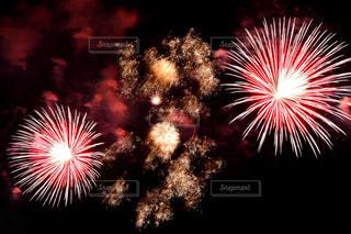 空に花火の写真・画像素材[1450391]