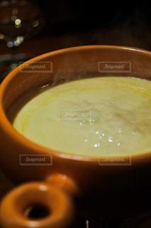 スープとコーヒーのカップのボウルの写真・画像素材[1772097]