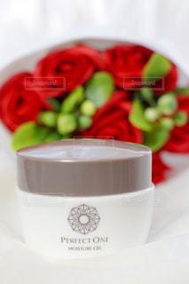 花,赤,花束,バラ,薔薇,テーブルフォト,アンバサダー,オールインワンジェル,パーフェクトワン,perfectone