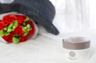 花,赤,花束,黒,帽子,バラ,薔薇,テーブルフォト,ハット,アンバサダー,オールインワンジェル,パーフェクトワン,perfectone