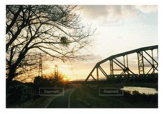 風景,空,建物,橋,屋外,太陽,堤防,道路,光,樹木,道,草木,日中,クラウド,道路の