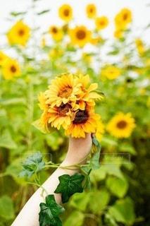 テーブルの上に座っている花の花瓶の写真・画像素材[3534398]