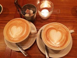 カフェ,ハート,カフェラテ