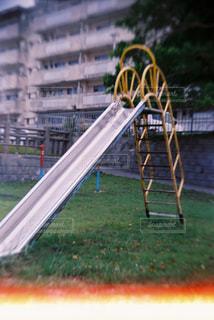 滑り台の写真・画像素材[733282]