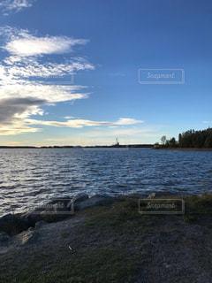 自然,風景,海,空,秋,雲,青空,海辺,フィンランド,秋空,9月,秋の日