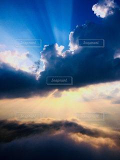 夕日,撮影,鮮やか,雲海