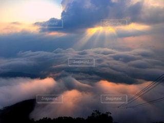 自然,夕日,撮影,鮮やか,写真,雲海,ロープウェイ