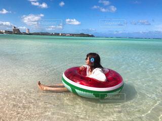 風景,海,景色,観光,旅行,グアム,海外旅行,浮き輪
